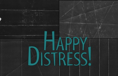 SD TEXT004 HappyDistress stack
